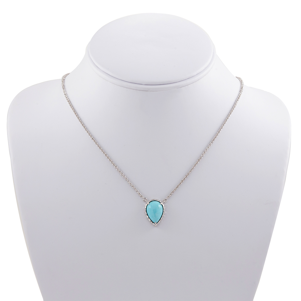 Pear Turquoise Necklace