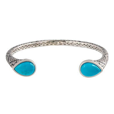 Aztec Pear Turquoise Cuff