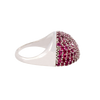 Rubellite Tourmaline Half-Moon Split Dome Ring