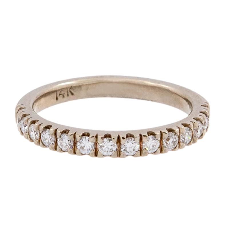 Diamond Half Band Stacker Ring