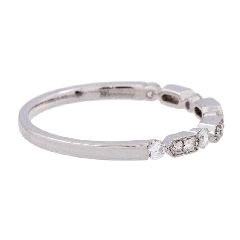 White Gold Diamond Deco Band