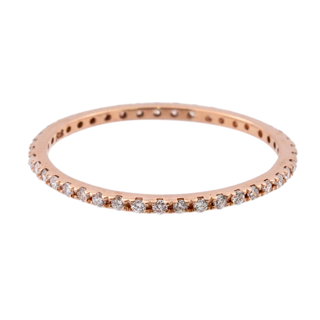 Dainty Diamond Eternity Band Rose