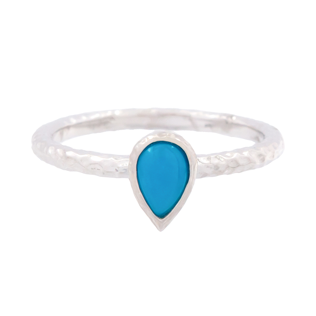 Pear Turquoise Stacker Ring