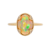 Oval Ethiopian Opal Ring