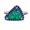 Lightning Ridge Black Opal Triangle Ring