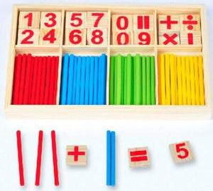 Montessori Wooden Counting Sticks