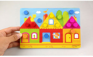 Wooden Jigsaw Cognition Boards