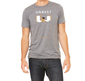 Short Sleeve Unisex Tee (Grey/Male Figure)