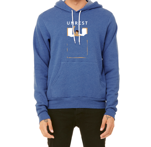 Sponge Fleece Pullover Hoodie (Blue/Male Figure)