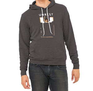 Sponge Fleece Pullover Hoodie (Gray/Female Figure)