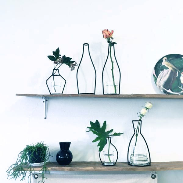 Minimalist Exposed Wire Vase - Simply Novelty