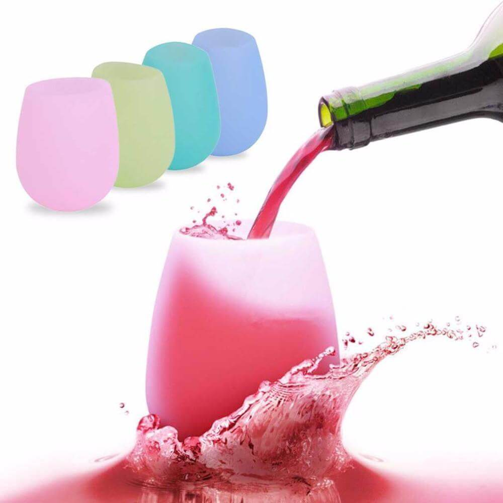 Silicone Wine Glasses Set