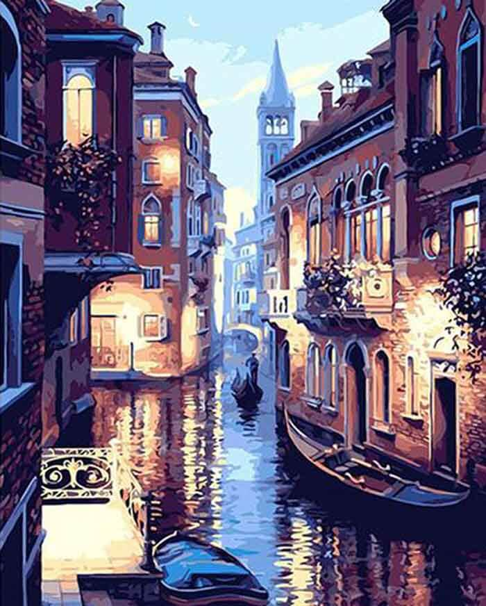 Venice Nights Paint-By-Numbers Kit