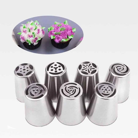 Flower Russian Icing Piping Tip Set (7 Pieces)