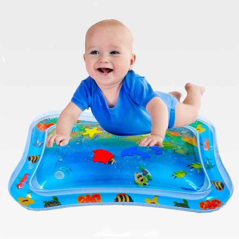 Inflatable Water Play Mat Infants Baby Toddlers Kid Fun Tummy Time Play Toy Gift