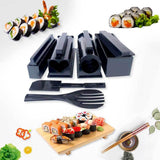OishiSushi™ All-In-One DIY Sushi Making Kit (4 Roll Shapes) Black