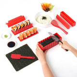 OishiSushi™ All-In-One DIY Sushi Making Kit (4 Roll Shapes) Red