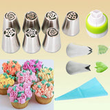 Flower Russian Icing Piping Tip Set (7 / 13 / 24 PCS SETS) 13 Pieces