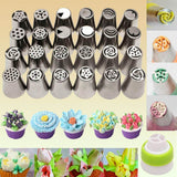 Flower Russian Icing Piping Tip Set (7 / 13 / 24 PCS SETS) 24 Pieces