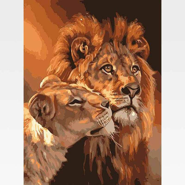 Lion Love Paint-By-Numbers Kit