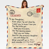 LoveLetters™ To My Daughter / Son From Mom - Custom Personalized Fleece Blanket
