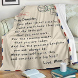 LoveWords™ To My Daughter / Son From Mom - Custom Personalized Love Letter Fleece Blanket