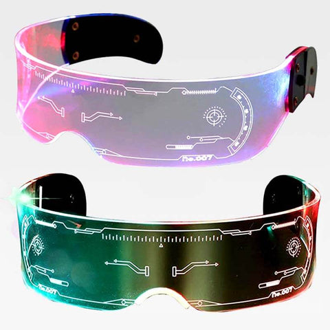 Futura™ Luminous Futuristic Multicolor LED Glasses