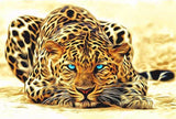 Magnificent Leopard Paint-By-Numbers Kit