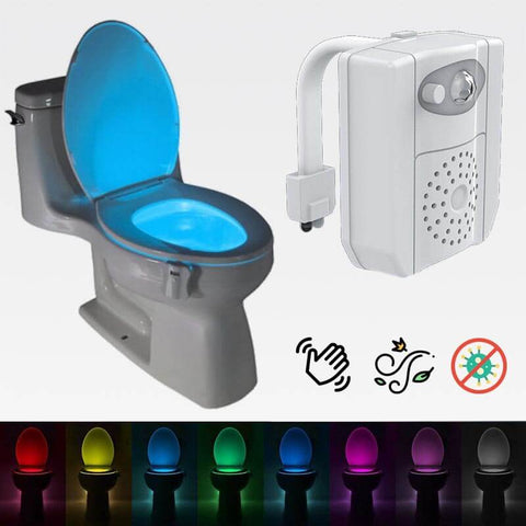 UVGlow™ 3-in-1 Toilet Bowl LED Night Light With UV Disinfecting & Air Freshener  (Upgraded)