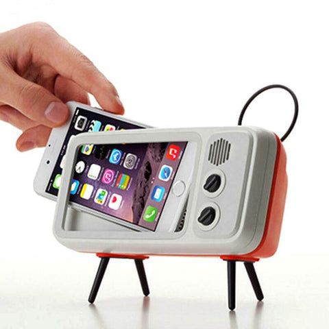 2-in-1 Retro TV Bluetooth Speaker & Phone Holder