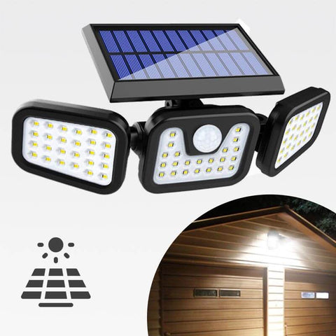 GlowFX-Solar™ Ultra Bright Motion Sensor Solar Security Light With Adjustable Flood Lights