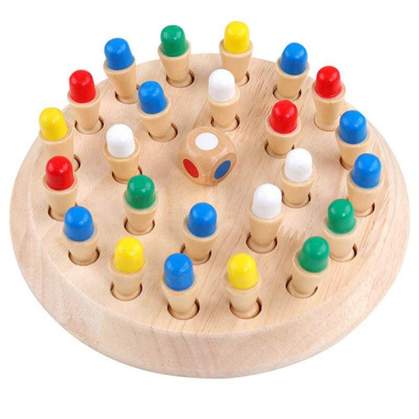 MemoMatch™ Wooden Memory Color Match Board Game