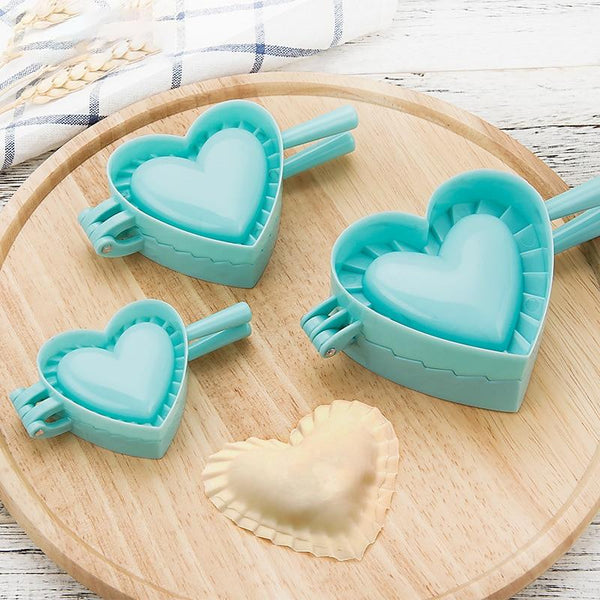 DeliDough™ Creative DIY 2-In-1 Dough Press Mold & Cutter (4 Different Shapes) Heart / Small