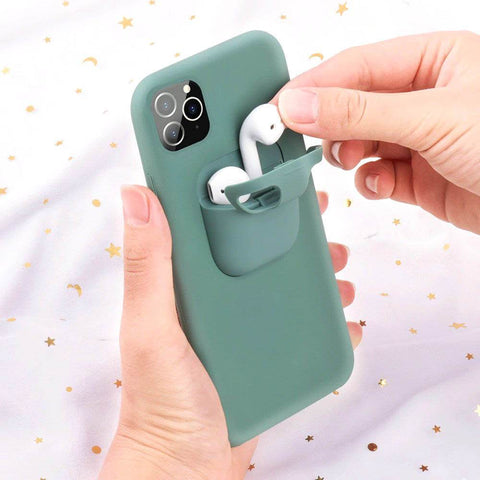 PodsPocket™ 2-In-1 iPhone Case With AirPods Holder