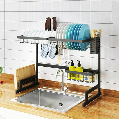 LuxRack™ Customizable Over Sink Dish Drying Rack (Upgraded Design)