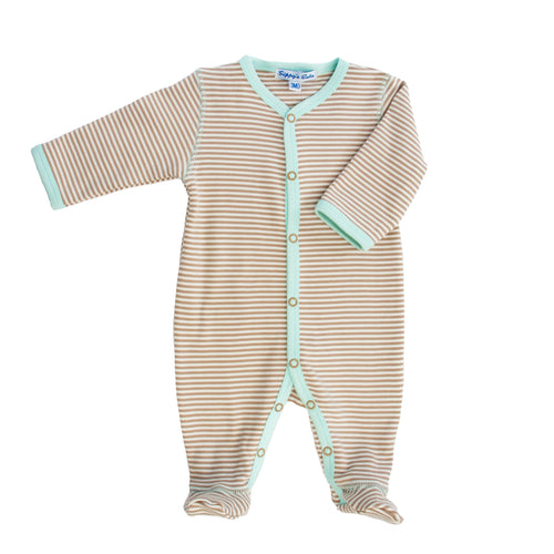 Footie Cream Bisque Stripe