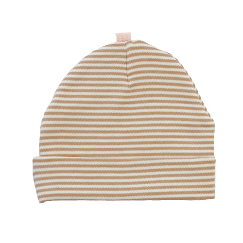 Pull On Hat Cream Bisque Stripe