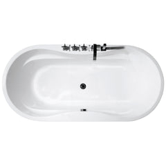 Modern Glossy White Freestanding Acrylic Bathtub with Drainage & Overflow,5X23.5 inch(Faucet Not Included)