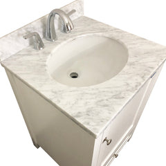 Natural Italian Carrara Marble Countertop & brush nickle hardware