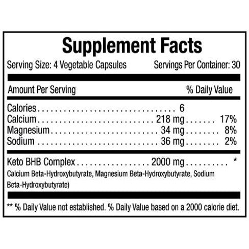 KETO β-hydroxybutyrate (BHB) 2000 mgs 120 caps - Planet Source