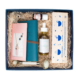 Immersive Experience Box - Elevate, self care, self love, wellness, meditation, mindfulness, subscription box, jade roller, aromatherapy, tea, essential oil, facial oil, rose, jasmine, rose quartz.