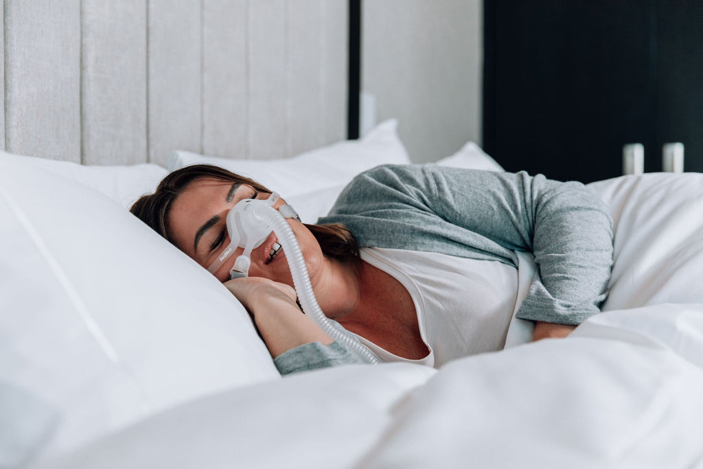 Sleep Apnea CPAP user mouth breathing at night