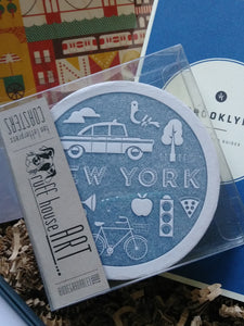 NYC-Themed Letterpress Paper Coasters - Coddiwomple Chic