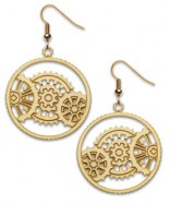 Empire State Building Meshing Gear Earrings - Coddiwomple Chic