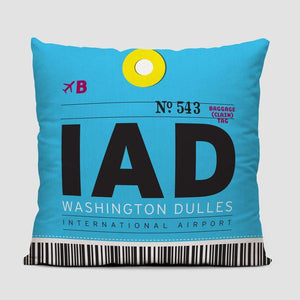 IAD Washington Dulles International Airport Pillow Cover - Coddiwomple Chic