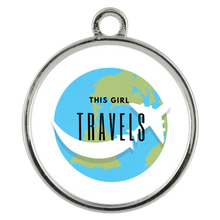 This Girl Travels Coin Pendant Necklace