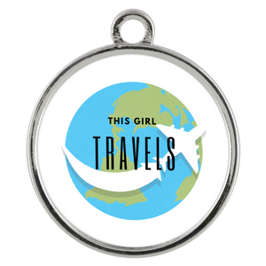 This Girl Travels Coin Pendant Necklace - Coddiwomple Chic
