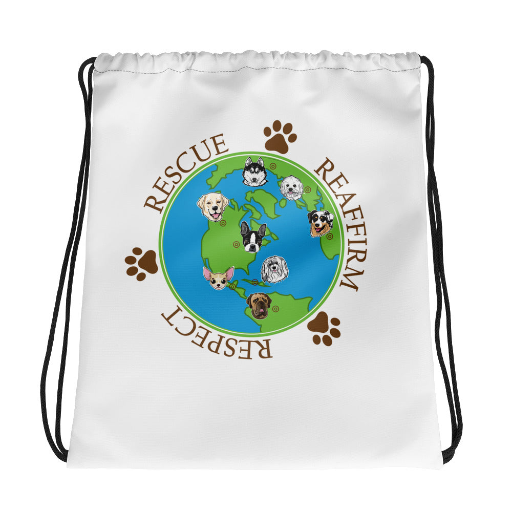 Rescue Dogs International Drawstring bag - Coddiwomple Chic