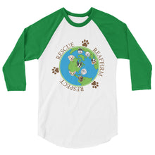Rescue Dogs International Unisex 3/4 Sleeve Raglan Shirt - Coddiwomple Chic
