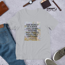 The World is a Book Travel Short-Sleeve Unisex Cotton T-Shirt - Coddiwomple Chic